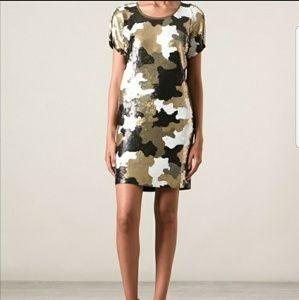 Michael Kors Camo Sequins Tunic Dress